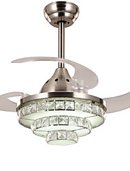 cheap -Modern/Contemporary Crystal Dimmable LED Dimmable With Remote Control Ceiling Fan Ambient Light For Living Room Bedroom Study Room/Office