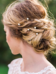 preiswerte -Künstliche Perle Aleación Haarklammer Haar-Stock Haar-Werkzeug Kopfschmuck