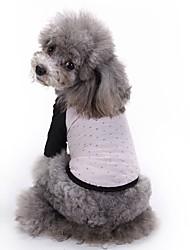 economico -Gatti Cani T-shirt Abbigliamento per cani Estate Stelle Divertente Di tendenza Casual Rosso Rosa