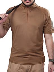 Недорогие -Муж. С короткими рукавами Футболка для охоты Тактический Классика Верхняя часть для Охота Спорт в свободное время M L XL XXL