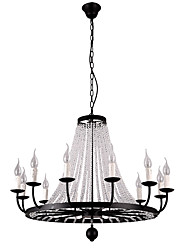 cheap -LightMyself 12 Lights Chandelier Modern/Contemporary Traditional/Classic Rustic/Lodge Tiffany Vintage Retro Lantern Drum Country Island Globe Bowl