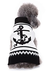 preiswerte -Katzen Hunde Pullover Hundekleidung Winter Seefahrer Niedlich Modisch Lässig/Alltäglich Weiß