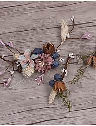 Flax Fabric Headpiece-Wedding Special Occasion Casual Outdoor Hair Stick 3 Pieces