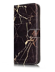 cheap -For Samsung Galaxy S7 S8 Case Cover Marble Pattern Painted Card Holder PU Leather Material Mobile Phone Case S5 S6 S7Edge S6Edge