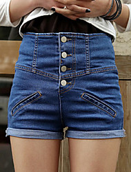 2014 Japan and South Korea VIVI recommended high-waisted denim shorts