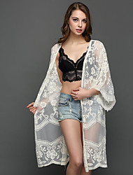 Women's Honeymoon Holiday Sexy Summer Blouse,Sexy V-neck Long Sleeves Lace Medium