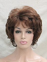 cheap -New Wavy Curly Wig Medium Auburn Short Synthetic Hair Full Women's  Wigs For Everyday