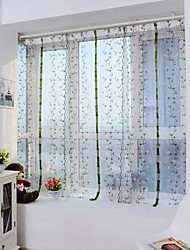cheap -Sheer Curtains Shades Living Room Polyester Embroidery