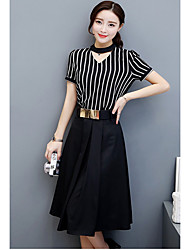 Women's Choker Two-piece suit female models summer fashion 2017 new wave of Korean temperament skirt with a summer dress