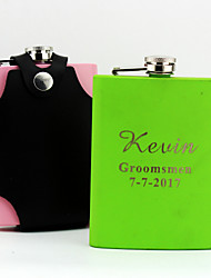 Groom Groomsman Parents Baby & Kids Stainless Steel Hip Flasks Wedding Anniversary Birthday Congratulations Graduation Thank You Business