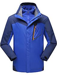 Men's Hiking 3-in-1 Jackets Outdoor Waterproof Thermal / Warm Windproof Fleece Lining Dust Proof Breathable 3-in-1 Jacket Winter Jacket