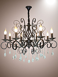 cheap -8 Head Of European Style Crystal Lamp Metal Chandelier Lighting Bedroom Hotel Restaurant