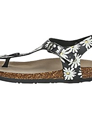 Camel Women's Outdoor Sandals Fashion Printing Comfort Beach Light Shoes Color Black