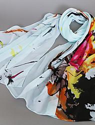 cheap -Women's Cute Casual Chiffon Rectangle Print