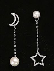 Women's Drop Earrings Ball Earrings AAA Cubic Zirconia Unique Design Pendant Floral Multi-ways Wear Pearl Zircon Cubic Zirconia Star Moon