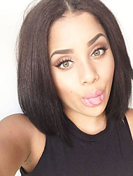 In Stock Sale Price Natural Black 130% Soft Remy Short Straight Brazilian Virgin Human Hair U Part Lace Bob Wigs Wholesale