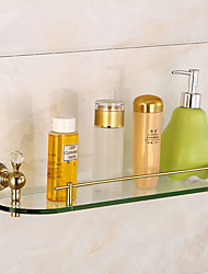Bathroom Accessory Set Bathroom Shelf Brass Glass Bathroom Shelf Wall Mounted