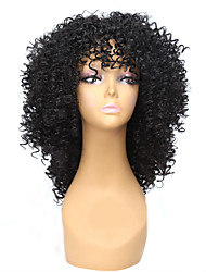 Cheap Women Synthetic Wigs Fashion Curly Wig Black Color For European And Afro Women