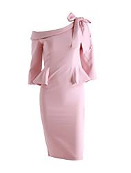 Femme Asymétrique/volant nouvelles s ol mince tempérament paquet de la hanche à volants de dentelle arc robe jupe robe
