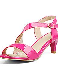 Sandálias da mulher verão primavera queda slingback PU escritório&Partido carreira&Fivela de vestido de noite