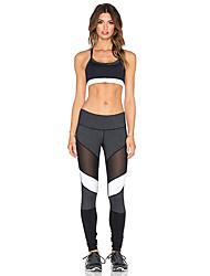 preiswerte -Damen Enge Laufhosen Atmungsaktiv Weich Komfortabel Dehnbar Strumpfhosen/Lange Radhose Unten Yoga Übung & Fitness Laufen Chinlon S M L