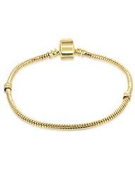 Dámské Řetězové & Ploché Náramky Šperky DIY Pozlacené Circle Shape Šperky ProSvatební Párty Zvláštní příležitosti Narozeniny Zásnuby