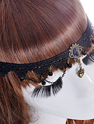 cheap -Women's Vintage Cute Party Fabric Synthetic Sapphire Hair Clip