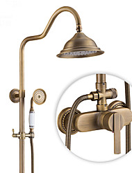 cheap -Antique Country Modern Shower Only Rotatable Ceramic Valve Single Handle Two Holes Antique Copper , Shower Faucet