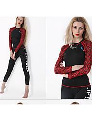 preiswerte -HISEA® Damen Diveskin-Anzug Anti-Ausrottung Langarm Tauchanzüge Schwimmen Tauchen Surfen Segeln
