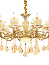 cheap -European Style Atmosphere Zinc Alloy Crystal Living Room Bedroom Home Chandelier I