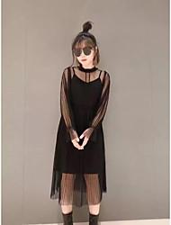 2017 весной новый эфирный фея юбка поддельные из двух частей в перспективе платья