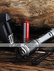 LED Flashlights/Torch Handheld Flashlights/Torch LED 2000 Lumens 5 Mode Cree XM-L T6 Adjustable Focus Waterproof Zoomable for