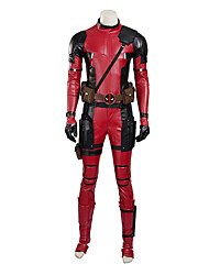 cheap -Super Heroes Bat Soldier / Warrior Zentai Suits Cosplay Costume Cosplay Wigs Movie Cosplay Red Leotard / Onesie Gloves Belt Christmas Halloween Carnival Faux Fur Stretch satin Terylene / Prince