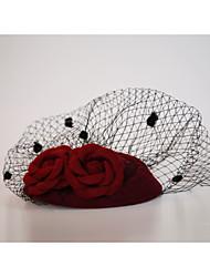 Недорогие -Фланелет / Сеть Fascinators / Завесы для птиц с 1 Свадьба / Особые случаи / на открытом воздухе Заставка