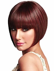 Red Color Popular Straight Wig European Synthetic Wigs