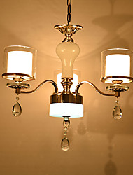 Chandelier ,  Modern/Contemporary Electroplated Feature for Crystal Metal Living Room Bedroom Dining Room Study Room/Office