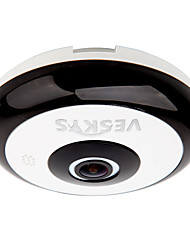 economico -veskys® 360 gradi hd full view ip sicurezza di rete wifi fotocamera 1.3mp fisheye