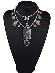 Недорогие -Жен. Прочее Мода Euramerican Заявление ожерелья Бижутерия Кожа Сплав Заявление ожерелья , Для вечеринок