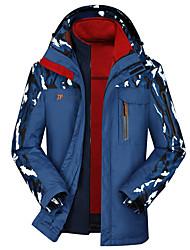 Per uomo Giacche 3-in-1 Zip anteriore Indossabile Protettivo Cursore singolo per Campeggio e hiking Pesca Scalate Primavera Autunno M L XL