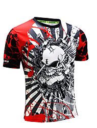 Men's Running T-Shirt Short Sleeves Quick Dry Anatomic Design Ultraviolet Resistant High Breathability (>15,001g) Breathable Sweat-wicking