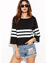 cheap -Women's Going out Cotton T-shirt - Striped
