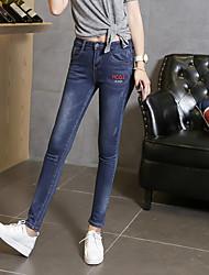 Korean version of the new spring denim pants skinny stretch pants feet Slim pencil jeans flavor