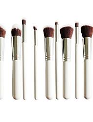 New 10 Silver Face Eye Lip Makeup Brush Sets Shading Brush Brush Highlights Beginners Essential Professional Makeup Brush Bag Mail