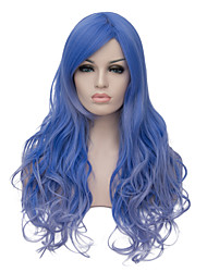 cheap -Synthetic Hair Wigs Halloween Wig Party Wig Natural Wigs Long Blue