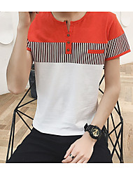 cheap -Men's Classic & Timeless T-shirt - Stripe, Artistic Style