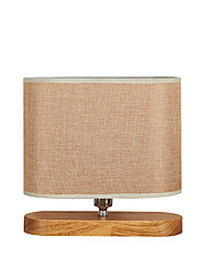 cheap -Contemporary Fabric Table Lamp And Woodbase