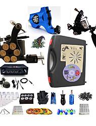baratos -BaseKey Máquina de tatuagem Kit de tatuagem profissional - 3 pcs máquinas de tatuagem Fonte de Alimentação LED Capa Inclusa 1xMáquina Tatuagem de aço para linhas e sombras / 1xMáquina Tatuagem