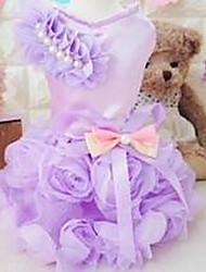 preiswerte -Hund T-shirt Hundekleidung Niedlich Lässig/Alltäglich Prinzessin Purpur Rosa Kostüm Für Haustiere
