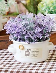 1 Branch Dried Flower Lavender Tabletop Flower Artificial Flowers