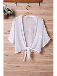 cheap -Women's Holiday Date Chic & Modern Summer Shirt,Solid Color V-neck 3/4 Length Sleeves Polyster Thin